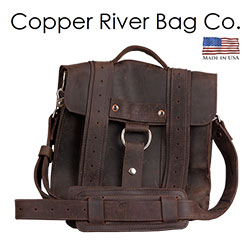 Copper River Rugged Safari Leather iPad Bag