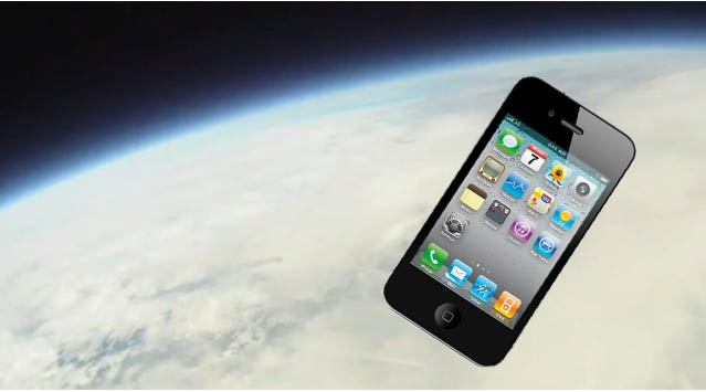 The iPhone 4S - From Space -
