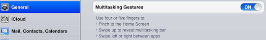Enable Multitasking Gestures on iPad 1 with iOS 5