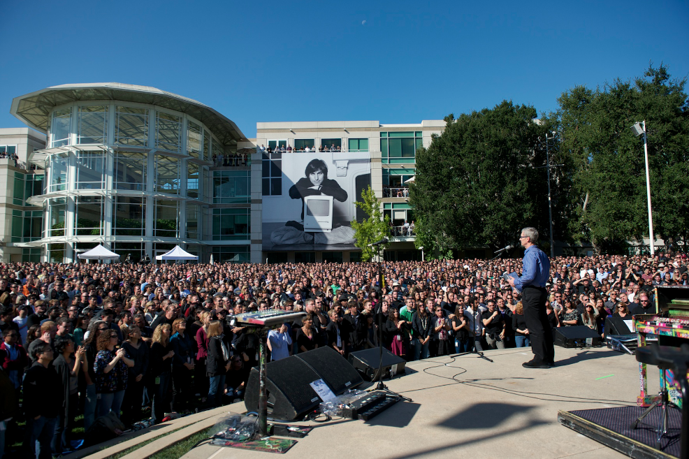 Private Ceremony At Apple HQ Honoring Steve Jobs | iPad Apps