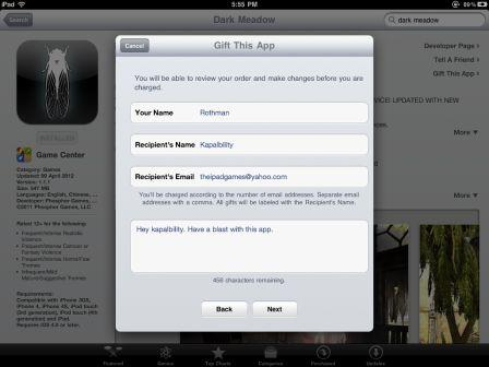 How to Gift an iPad App