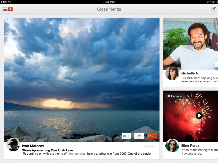 In other non-iPad mini news, Google+ app now optimized for iPad