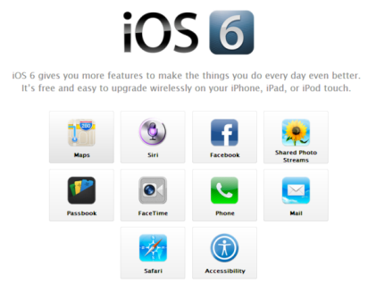 Apple iOS 6 available now for your iPad
