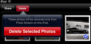 Delete photos from Photo Stream and iCloud